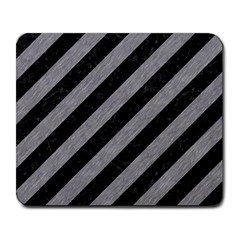 Stripes3 Black Marble & Gray Colored Pencil Large Mousepads by trendistuff