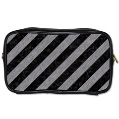 Stripes3 Black Marble & Gray Colored Pencil Toiletries Bags by trendistuff