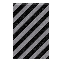 Stripes3 Black Marble & Gray Colored Pencil Shower Curtain 48  X 72  (small)  by trendistuff