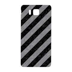 Stripes3 Black Marble & Gray Colored Pencil Samsung Galaxy Alpha Hardshell Back Case by trendistuff