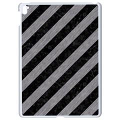 Stripes3 Black Marble & Gray Colored Pencil Apple Ipad Pro 9 7   White Seamless Case by trendistuff