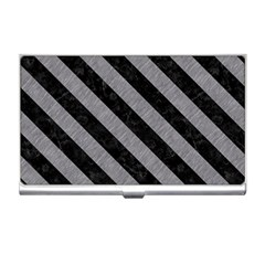 Stripes3 Black Marble & Gray Colored Pencil (r) Business Card Holders
