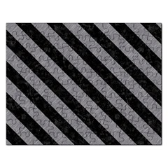 Stripes3 Black Marble & Gray Colored Pencil (r) Rectangular Jigsaw Puzzl by trendistuff