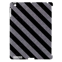 Stripes3 Black Marble & Gray Colored Pencil (r) Apple Ipad 3/4 Hardshell Case (compatible With Smart Cover) by trendistuff