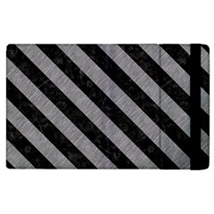 Stripes3 Black Marble & Gray Colored Pencil (r) Apple Ipad 2 Flip Case