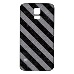 Stripes3 Black Marble & Gray Colored Pencil (r) Samsung Galaxy S5 Back Case (white) by trendistuff