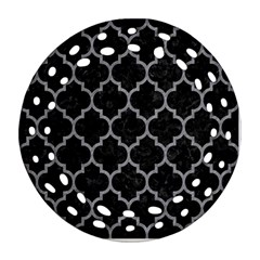 Tile1 Black Marble & Gray Colored Pencil Ornament (round Filigree) by trendistuff