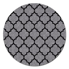 Tile1 Black Marble & Gray Colored Pencil (r) Magnet 5  (round) by trendistuff
