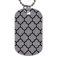 Tile1 Black Marble & Gray Colored Pencil (r) Dog Tag (one Side) by trendistuff