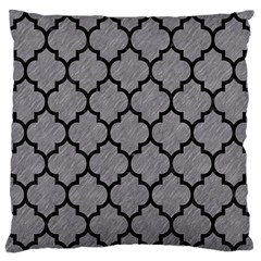 Tile1 Black Marble & Gray Colored Pencil (r) Large Flano Cushion Case (two Sides)