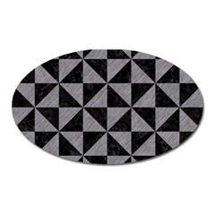 Triangle1 Black Marble & Gray Colored Pencil Oval Magnet by trendistuff