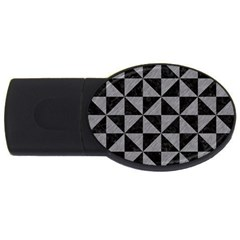 Triangle1 Black Marble & Gray Colored Pencil Usb Flash Drive Oval (2 Gb) by trendistuff