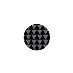 Triangle2 Black Marble & Gray Colored Pencil 1  Mini Buttons by trendistuff