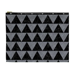 Triangle2 Black Marble & Gray Colored Pencil Cosmetic Bag (xl) by trendistuff