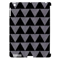 Triangle2 Black Marble & Gray Colored Pencil Apple Ipad 3/4 Hardshell Case (compatible With Smart Cover) by trendistuff