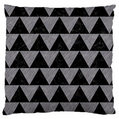 Triangle2 Black Marble & Gray Colored Pencil Large Cushion Case (two Sides) by trendistuff