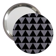 Triangle2 Black Marble & Gray Colored Pencil 3  Handbag Mirrors by trendistuff