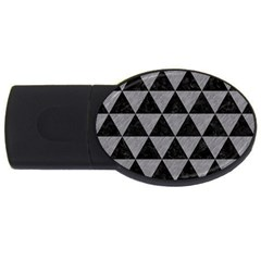 Triangle3 Black Marble & Gray Colored Pencil Usb Flash Drive Oval (2 Gb) by trendistuff