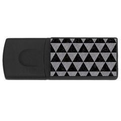 Triangle3 Black Marble & Gray Colored Pencil Rectangular Usb Flash Drive by trendistuff