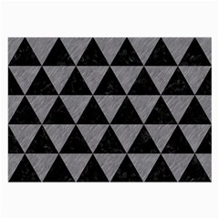 Triangle3 Black Marble & Gray Colored Pencil Large Glasses Cloth (2 Side) by trendistuff