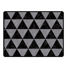 Triangle3 Black Marble & Gray Colored Pencil Fleece Blanket (small) by trendistuff