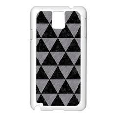 Triangle3 Black Marble & Gray Colored Pencil Samsung Galaxy Note 3 N9005 Case (white) by trendistuff