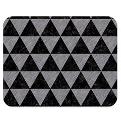 Triangle3 Black Marble & Gray Colored Pencil Double Sided Flano Blanket (medium)  by trendistuff