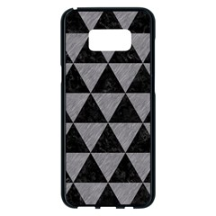 Triangle3 Black Marble & Gray Colored Pencil Samsung Galaxy S8 Plus Black Seamless Case by trendistuff