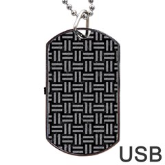 Woven1 Black Marble & Gray Colored Pencil Dog Tag Usb Flash (one Side) by trendistuff