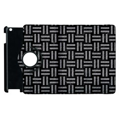 Woven1 Black Marble & Gray Colored Pencil Apple Ipad 3/4 Flip 360 Case by trendistuff