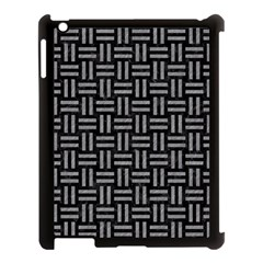 Woven1 Black Marble & Gray Colored Pencil Apple Ipad 3/4 Case (black) by trendistuff