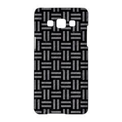 Woven1 Black Marble & Gray Colored Pencil Samsung Galaxy A5 Hardshell Case  by trendistuff