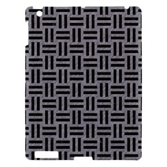 Woven1 Black Marble & Gray Colored Pencil (r) Apple Ipad 3/4 Hardshell Case by trendistuff