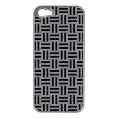 Woven1 Black Marble & Gray Colored Pencil (r) Apple Iphone 5 Case (silver) by trendistuff