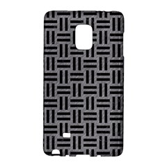 Woven1 Black Marble & Gray Colored Pencil (r) Galaxy Note Edge by trendistuff