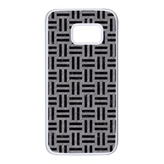 Woven1 Black Marble & Gray Colored Pencil (r) Samsung Galaxy S7 White Seamless Case by trendistuff