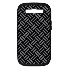 Woven2 Black Marble & Gray Colored Pencil Samsung Galaxy S Iii Hardshell Case (pc+silicone) by trendistuff