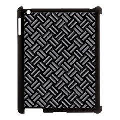 Woven2 Black Marble & Gray Colored Pencil Apple Ipad 3/4 Case (black) by trendistuff