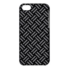 Woven2 Black Marble & Gray Colored Pencil Apple Iphone 5c Hardshell Case by trendistuff