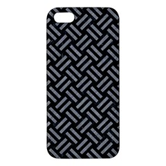 Woven2 Black Marble & Gray Colored Pencil Iphone 5s/ Se Premium Hardshell Case by trendistuff