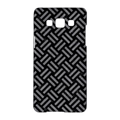 Woven2 Black Marble & Gray Colored Pencil Samsung Galaxy A5 Hardshell Case  by trendistuff
