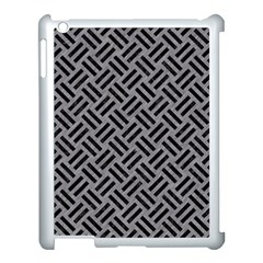 Woven2 Black Marble & Gray Colored Pencil (r) Apple Ipad 3/4 Case (white) by trendistuff