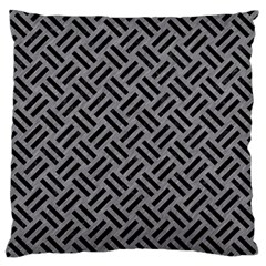 Woven2 Black Marble & Gray Colored Pencil (r) Standard Flano Cushion Case (two Sides)
