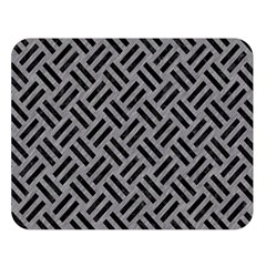 Woven2 Black Marble & Gray Colored Pencil (r) Double Sided Flano Blanket (large)  by trendistuff