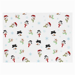 Snowman Pattern Large Glasses Cloth (2 Side) by Valentinaart