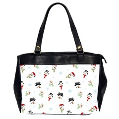 Snowman Pattern Office Handbags (2 Sides)  by Valentinaart