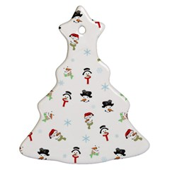 Snowman Pattern Ornament (christmas Tree)