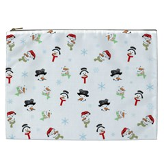 Snowman Pattern Cosmetic Bag (xxl)  by Valentinaart