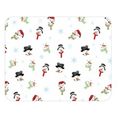 Snowman Pattern Double Sided Flano Blanket (large)