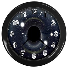 Brightest Cluster Galaxies And Supermassive Black Holes Wall Clocks (black) by Mariart
